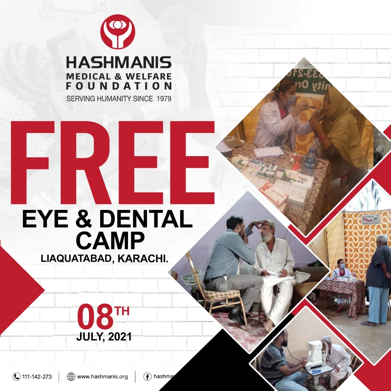 Free Eye & Dental Camp Liaquatabad, Karachi